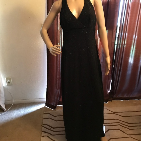 863780fb City Triangles Dresses   Size Large Black Sparkly Low Back Halter ...